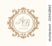 elegant floral monogram design... | Shutterstock . vector #324418865