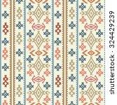 aztec tribal art colorful...   Shutterstock . vector #324429239