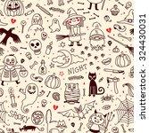 halloween seamless pattern.... | Shutterstock .eps vector #324430031