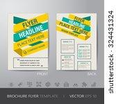 yellow green business brochure... | Shutterstock .eps vector #324431324