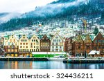 view on bruges. bergen norway | Shutterstock . vector #324436211