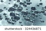 growing liquid molecule bubbles.... | Shutterstock . vector #324436871