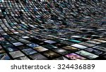curved video wall. 3d rendering | Shutterstock . vector #324436889