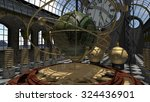 time machine in steam punk...   Shutterstock . vector #324436901