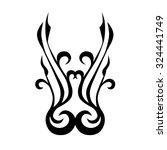 tattoo tribal lower back vector ... | Shutterstock .eps vector #324441749