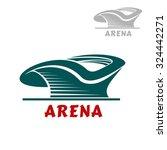 sports stadium abstract icon... | Shutterstock .eps vector #324442271
