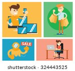 shopping  discount  hot price.... | Shutterstock .eps vector #324443525