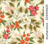 floral seamless pattern with... | Shutterstock .eps vector #324444635