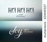calligraphy xmas greetings... | Shutterstock .eps vector #324449327