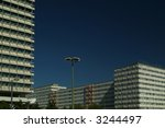 old office buildings in central east-berlin - stock photo