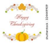 happy thanksgiving. greeting... | Shutterstock .eps vector #324449909