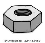 metal nuts   cartoon vector and ...