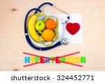 healthy diet. fresh fruit plate.... | Shutterstock . vector #324452771