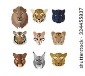 Animal Icons In Flat Style  Big ...