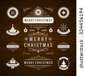 christmas decorations vector... | Shutterstock .eps vector #324456194