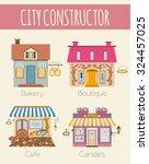 big set city generator. house... | Shutterstock .eps vector #324457025