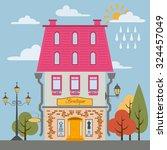 big set city generator. house... | Shutterstock .eps vector #324457049
