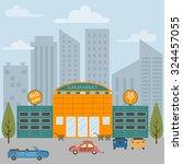 big set city generator. house... | Shutterstock .eps vector #324457055