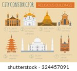big set city generator. house... | Shutterstock .eps vector #324457091