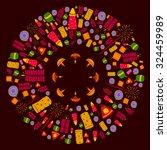 happy diwali celebration... | Shutterstock .eps vector #324459989