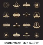 coffee shop logos  badges and... | Shutterstock .eps vector #324463349
