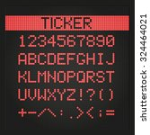 ticker board digital font