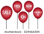 red balloons and discounts use... | Shutterstock .eps vector #324466304