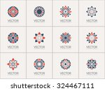 geometric logo template set.... | Shutterstock .eps vector #324467111