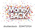 money back sign with colour... | Shutterstock .eps vector #324471914