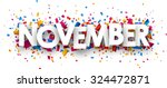 november sign with colour... | Shutterstock .eps vector #324472871