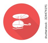white vector helicopter on...   Shutterstock .eps vector #324474191