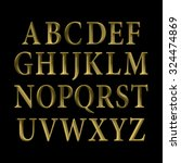 gold vintage vector font. | Shutterstock .eps vector #324474869