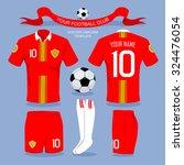 soccer uniform template for... | Shutterstock .eps vector #324476054