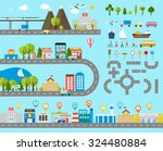cityscape design elements with... | Shutterstock .eps vector #324480884