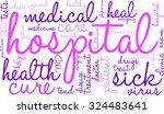 hospital word cloud on a white... | Shutterstock .eps vector #324483641