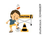 safety and accident character.... | Shutterstock .eps vector #324486809