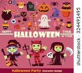 vintage halloween poster design | Shutterstock .eps vector #324491495