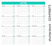 2016 Calendar  Weeks Start Fro...