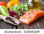Fresh Salmon With Vegetables O...