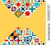 colorful geometric tiles... | Shutterstock .eps vector #324501737