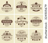 typographic thanksgiving design ... | Shutterstock .eps vector #324505679
