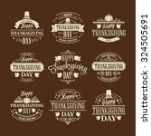 typographic thanksgiving design ... | Shutterstock .eps vector #324505691
