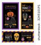 halloween party invitation.... | Shutterstock .eps vector #324510191