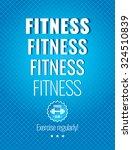 fitness. illustrations for... | Shutterstock .eps vector #324510839