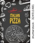 pizza italian with raw material ... | Shutterstock .eps vector #324511481