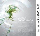 techno vector circle abstract... | Shutterstock .eps vector #324511691
