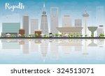riyadh skyline with grey... | Shutterstock .eps vector #324513071