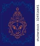 durga goddess of power vector... | Shutterstock .eps vector #324516641