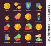 currency exchange in the... | Shutterstock .eps vector #324518681