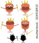 cartoon naked emperor over... | Shutterstock .eps vector #324518915